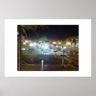 San Diego Empty Neon Nightlife Poster
