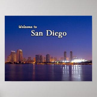 San Diego en la noche Póster