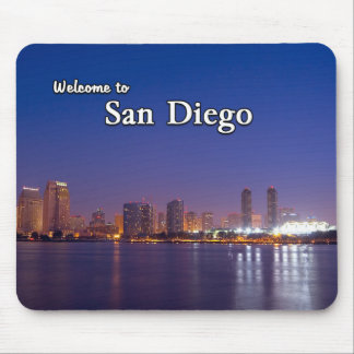 San Diego en la noche Tapetes De Ratones