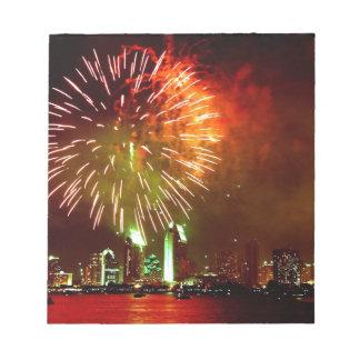 San Diego fireworks Memo Note Pad
