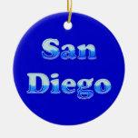 San Diego flúida - en azul Ornamento De Navidad