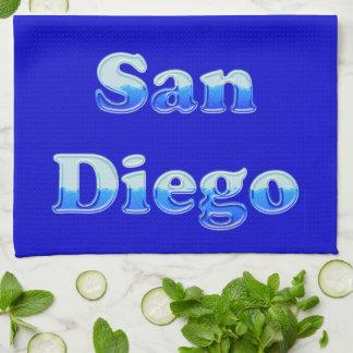 San Diego flúida - en azul Toallas De Cocina