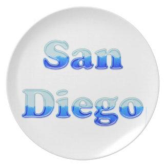 San Diego flúida - en blanco Platos