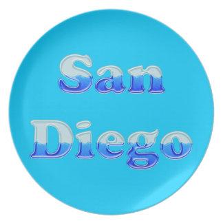 San Diego flúida - en la aguamarina Plato