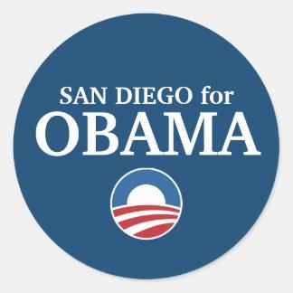 SAN DIEGO for Obama custom your city personalized Round Sticker