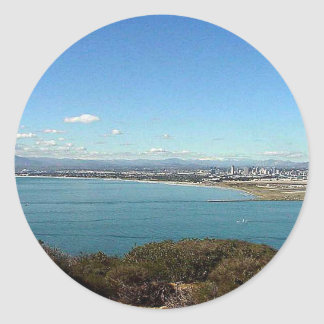 San Diego From The Cabrillo Statue Classic Round Sticker