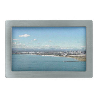 San Diego From The Cabrillo Statue Rectangular Belt Buckle