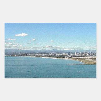 San Diego From The Cabrillo Statue Rectangular Sticker