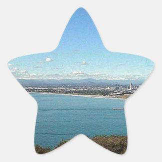 San Diego From The Cabrillo Statue Star Sticker