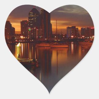 San Diego harbor 2 Heart Sticker