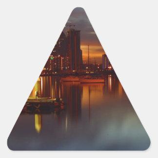 San Diego harbor 2 Triangle Sticker