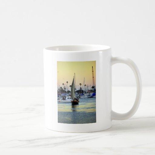 San Diego Harbor Marina Classic White Coffee Mug