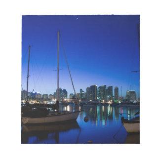 San Diego harbor Notepad