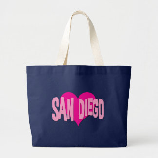 SAN DIEGO HEART LARGE TOTE BAG