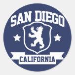 San Diego Heraldry Classic Round Sticker