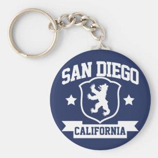 San Diego Heraldry Basic Round Button Keychain