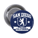 San Diego Heraldry Pinback Button