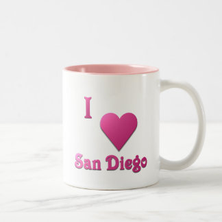 San Diego -- Hot Pink Two-Tone Coffee Mug