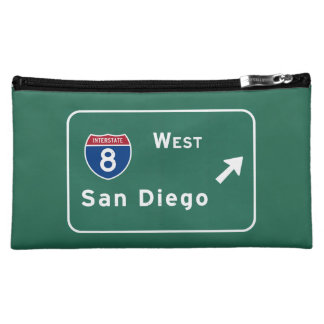 San Diego I-8 West Exit Interstate California Ca - Cosmetic Bag