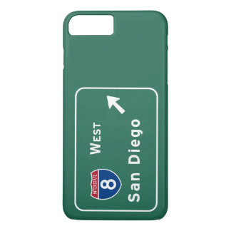 San Diego I-8 West Exit Interstate California Ca - iPhone 8 Plus/7 Plus Case