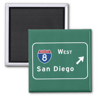 San Diego I-8 West Exit Interstate California Ca - Magnet