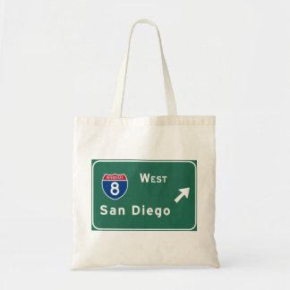 San Diego I-8 West Exit Interstate California Ca - Tote Bag