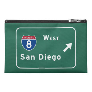 San Diego I-8 West Exit Interstate California Ca - Travel Accessory Bag