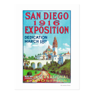 San Diego International Exposition Poster Postcard