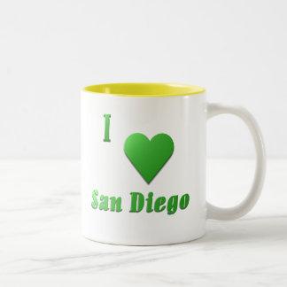 San Diego -- Kelly Green Two-Tone Coffee Mug