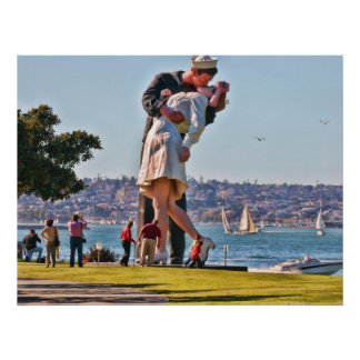 San Diego Kissing Couple Poster