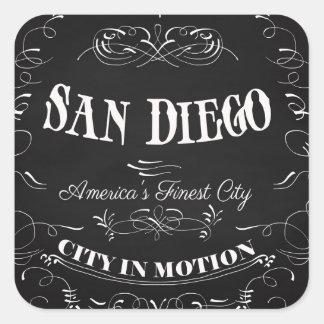 San Diego la ciudad más fina de California, Pegatina Cuadrada
