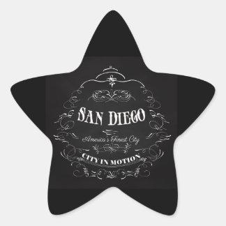 San Diego la ciudad más fina de California, Pegatina En Forma De Estrella