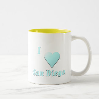 San Diego -- Light Blue Two-Tone Coffee Mug