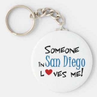 San Diego Love Basic Round Button Keychain