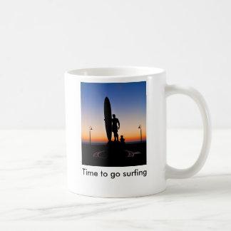 San Diego_LR_-2675 (1), Time to go surfing Classic White Coffee Mug