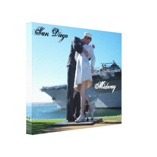 San Diego Midway Big Kiss Canvas Wall Hanging