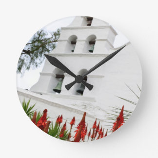 San Diego Mission Round Wall Clocks