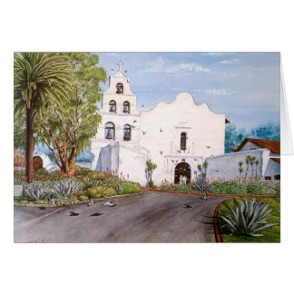 SAN DIEGO MISSION DE ALCALA, CALIFORNIA GREETING CARD
