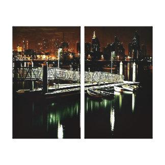 San Diego Night Skyline Canvas Print
