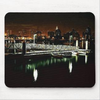San Diego Night Skyline Mouse Pad