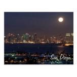 San Diego night skyline Postcard