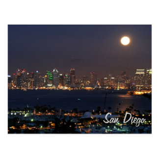 San Diego night skyline Postcard
