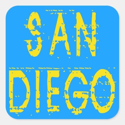 San Diego Pegatina Cuadrada