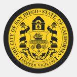 San Diego Pegatina Redonda