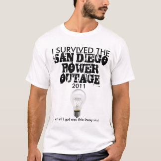 San Diego Power Outage September 2011 T-Shirt
