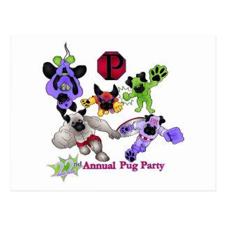 San Diego Pug Rescue 2013 Superhero Pugs Logo 2 Postcard