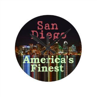 San Diego Round Clock