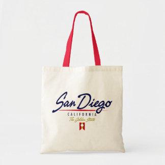 San Diego Script Canvas Bag