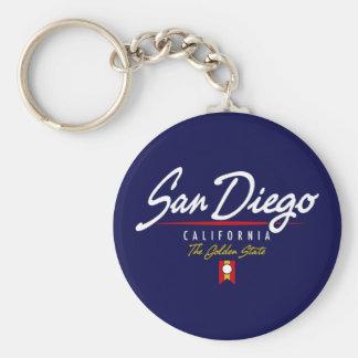 San Diego Script Keychain