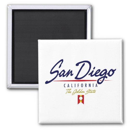 San Diego Script Magnet